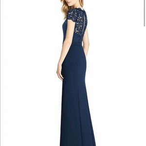 Beautiful floor length navy gown worn only once!